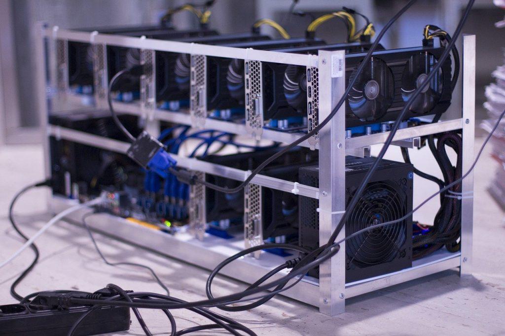 Une ferme d'ordinateurs pour le bitcoin