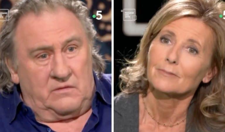 « De quoi ?!! » : Gérard Depardieu furieux après une question de Claire Chazal sur Vladimir Poutine
