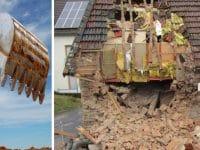 La maison détruite par son propriétaire en Allemagne