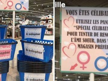 Des paniers pour les célibataires chez E.Leclerc et Intermarché