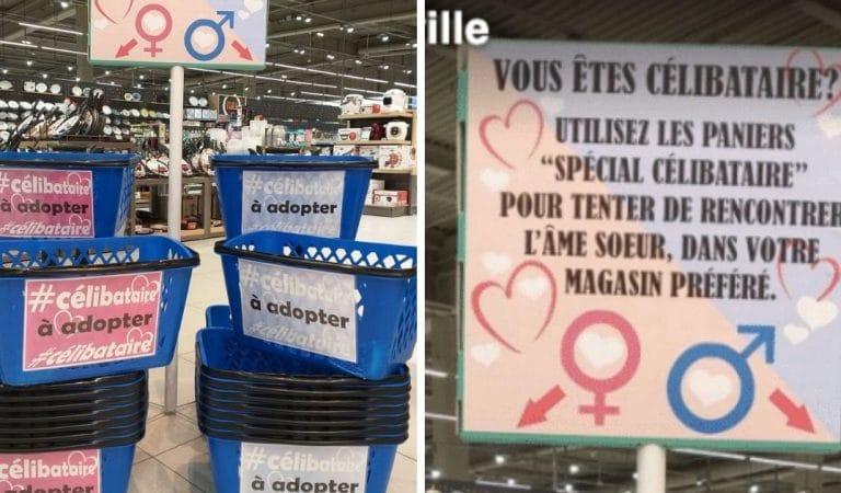 Célibataire ? E.Leclerc et Intermarché vous permettent de rencontrer l'amour en faisant vos courses !