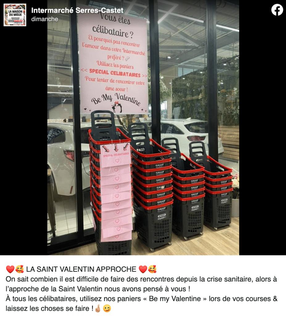 Paniers pour célibataires à l'intermarché de Serres-Castet