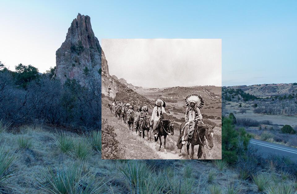 Photo prise au même endroit à un siècle d'intervalle