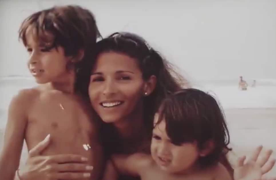 Priscilla Dray avec ses enfants.
