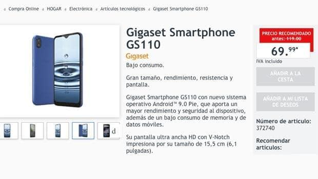 Le smartphone de Lidl, vendu sur le site espagnol