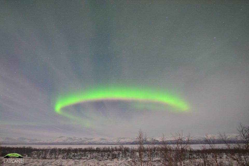 Une aurore boréale en Suède