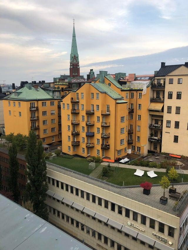 En Suède, les immeubles sont construits sur les bâtiments