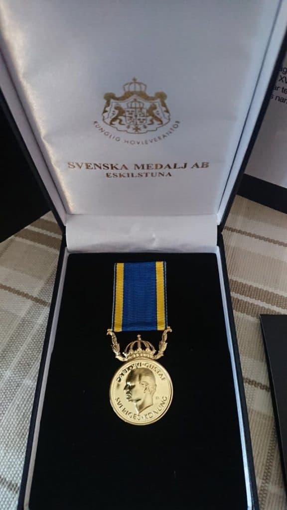 Une médaille d'or remise aux travailleurs de l'Etat en Suède