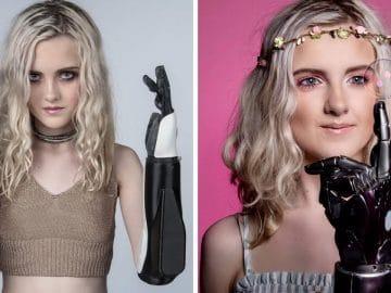 Tilly Lockey avec ses bras bioniques