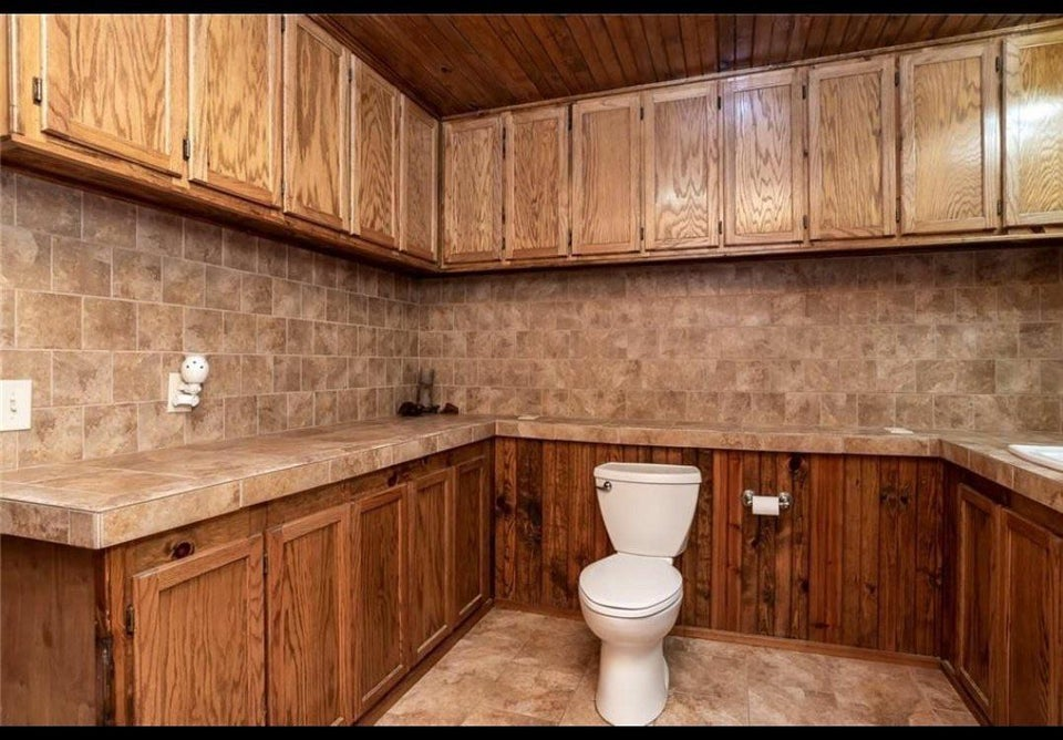 Toilettes dans une cuisine