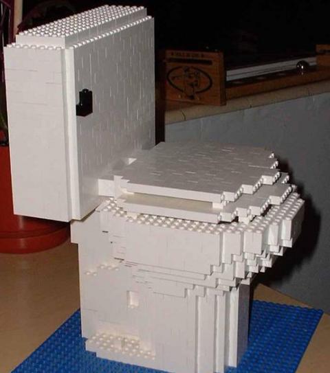 Toilettes en Lego