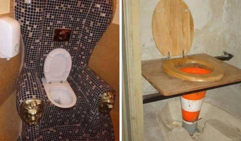 « Pourquoi ?! » : Top 20 des toilettes les plus improbables