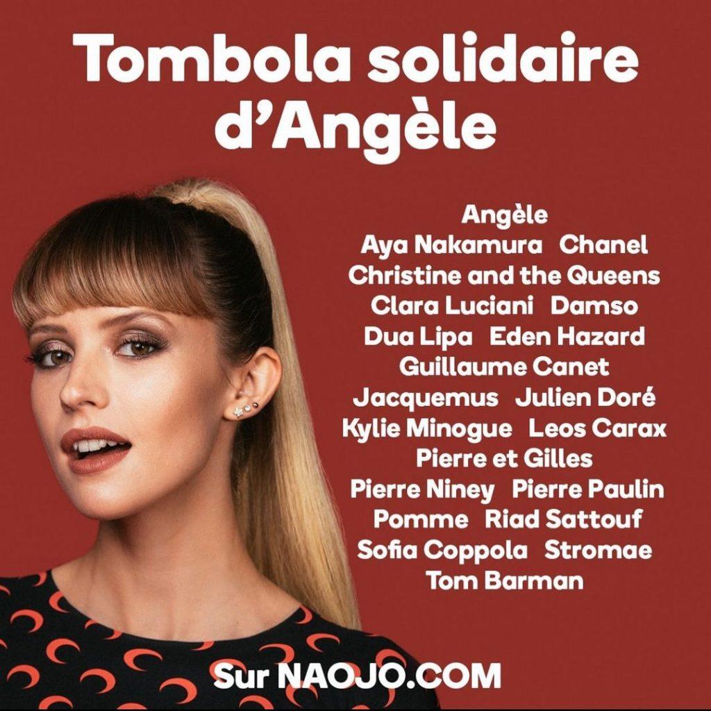 La tombola solidaire d'Angèle