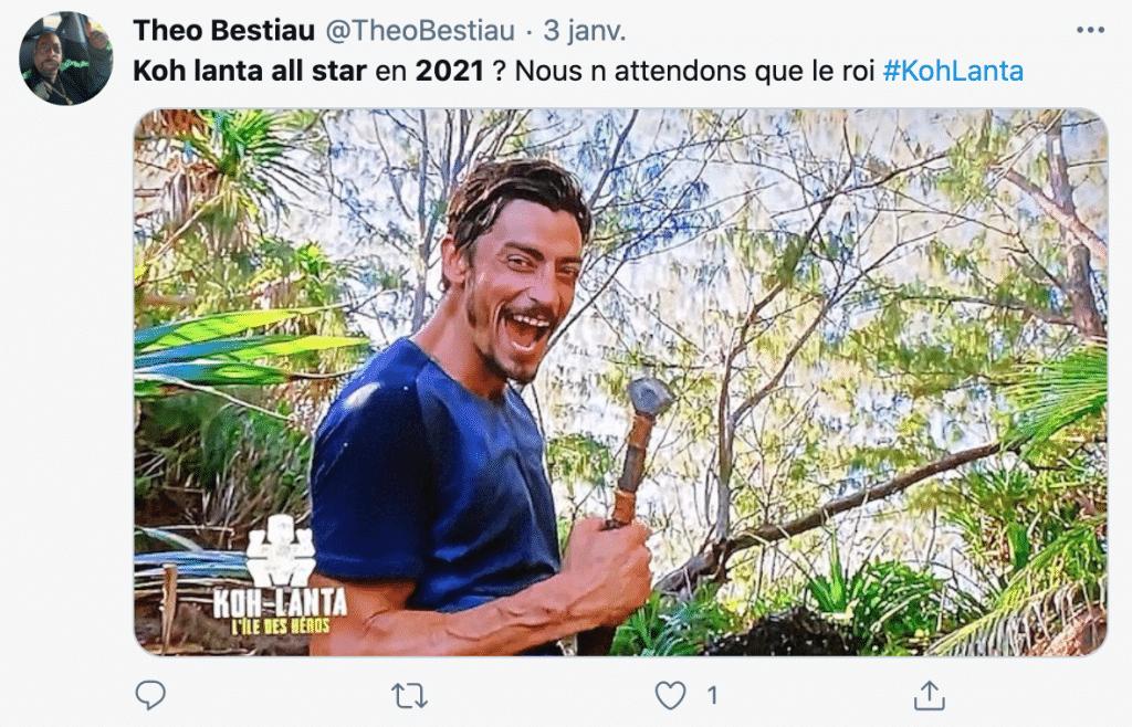 Tweet Koh Lanta All Stars 2021