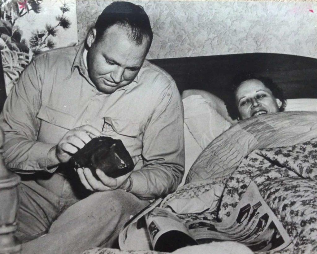 Elizabeth Ann Hodges et son mari