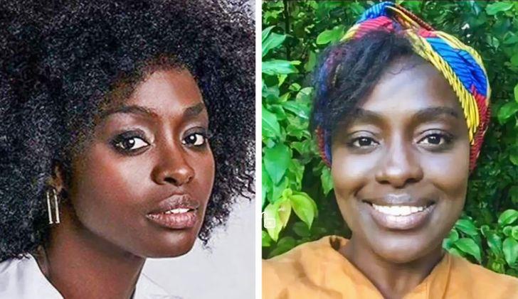 Aissa Maiga avec et sans maquillage