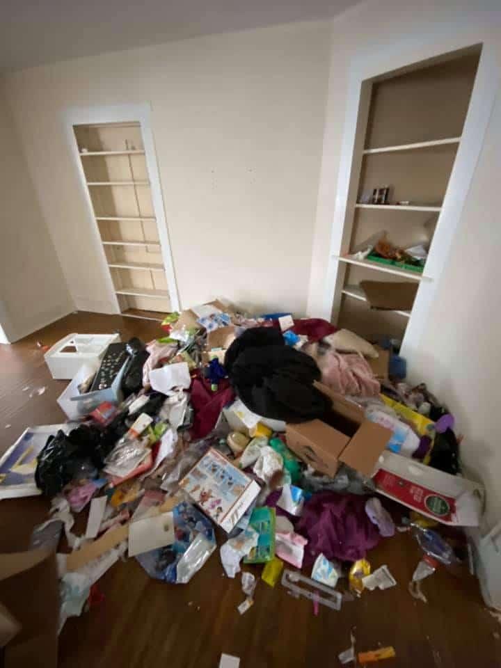 Logement saccagé par des locataires