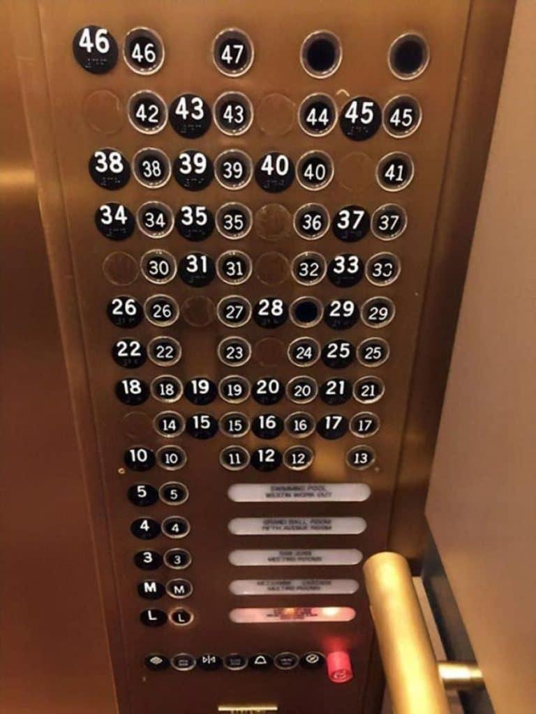 Des boutons d'ascenseur incompréhensibles