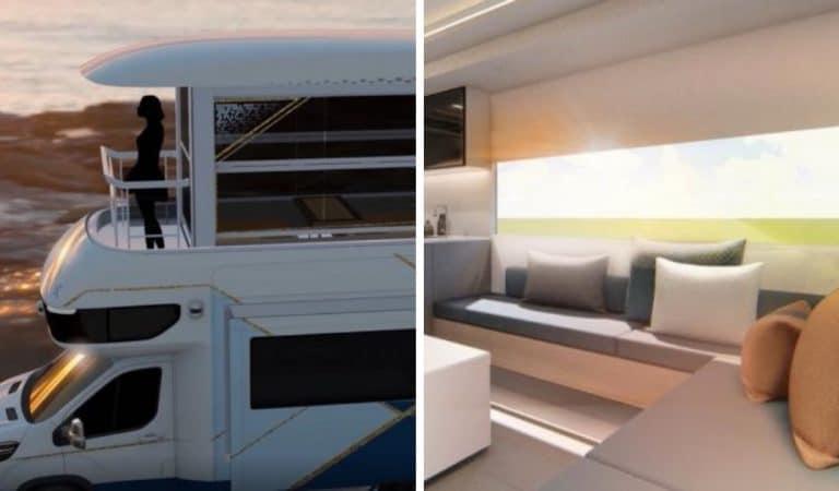 Ascenseur, 1er étage, balcon… Le camping-car «Villa Edition» de SAIC Motor enfin dévoilé !