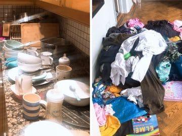Miss Potkin fait la grève des tâches ménagères