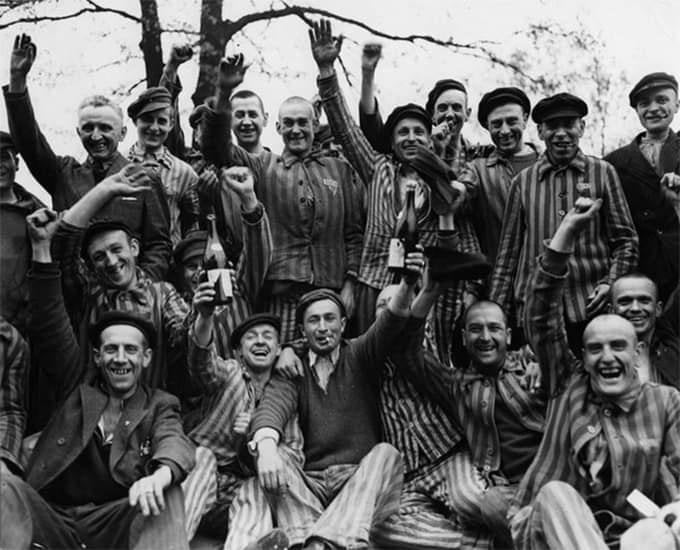 La libération du camp d'Auschwitz, en 1945