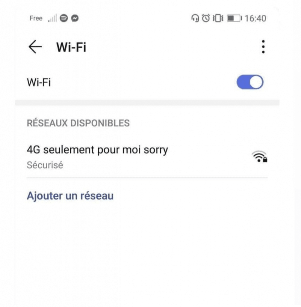 Un nom de wifi drôle