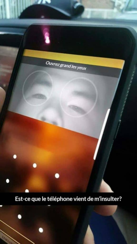 Un test de reconnaissance d'iris sur smartphone