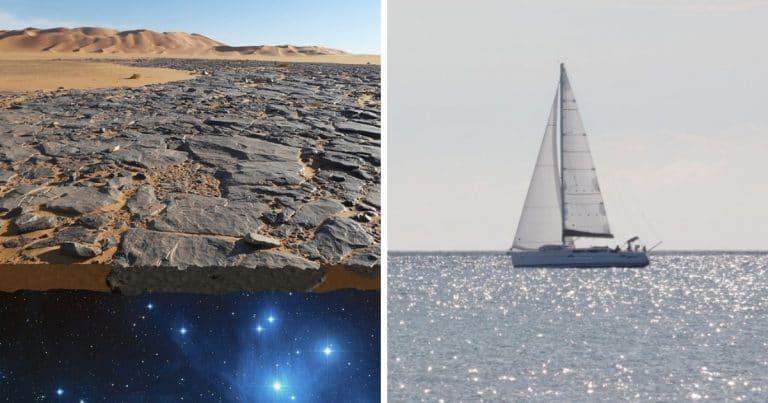La terre plate et un bateau