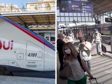 Un TGV dans une gare parisienne