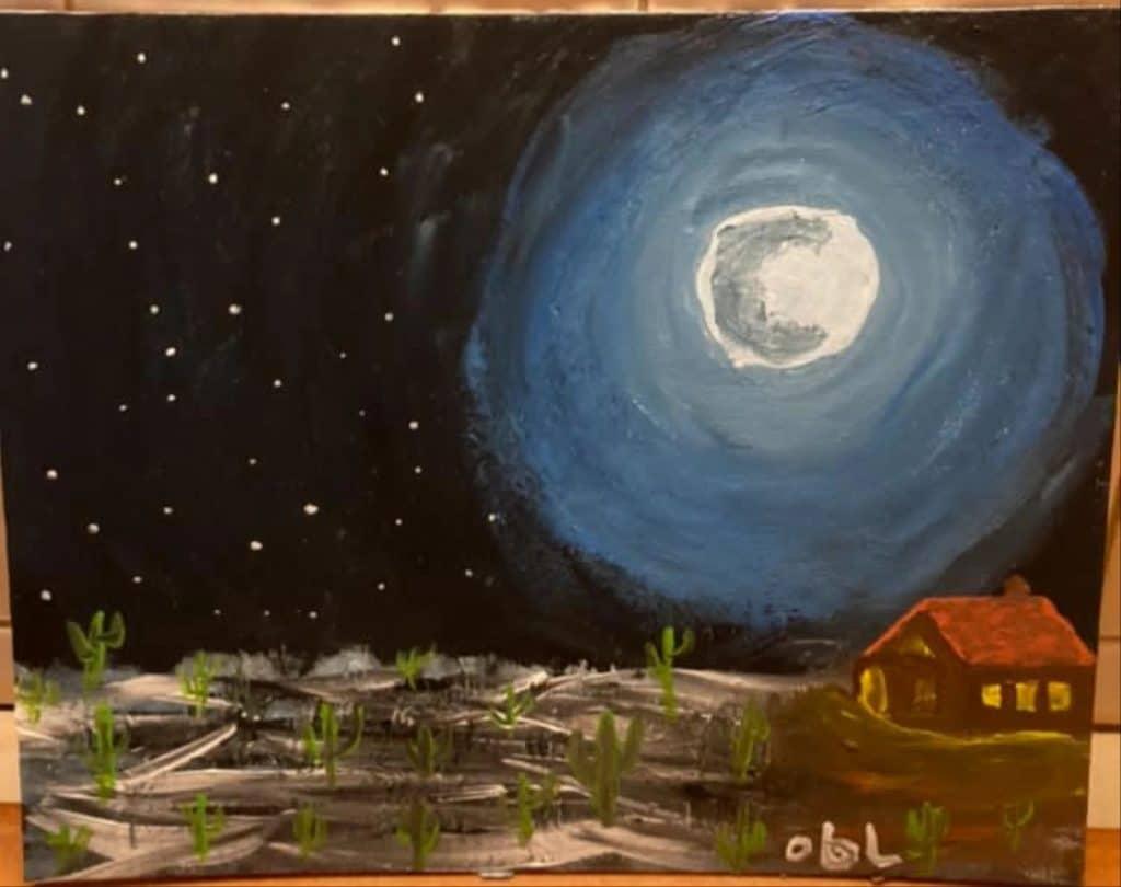 peinture d'Omar Ben Laden.