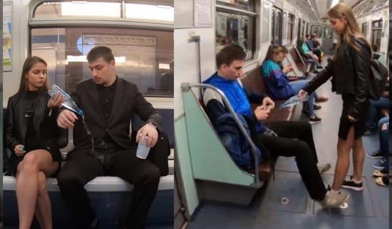 Cette activiste russe a-t-elle vraiment déversé de l'eau de javel sur les hommes faisant du manspreading ?