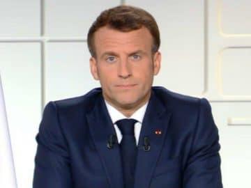 Emmanuel Macron lors de son allocution du 31 mars 2021.