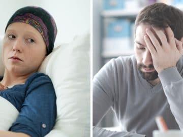 Un mari épuisé par le cancer de sa femme