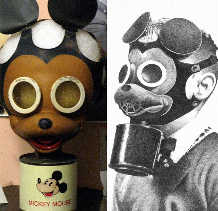 Le masque à gaz disney en 1940.