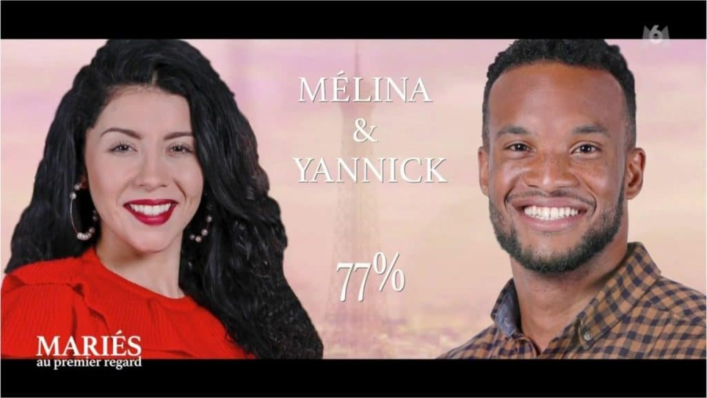 Yannick et Mélina de mariés au premier regard