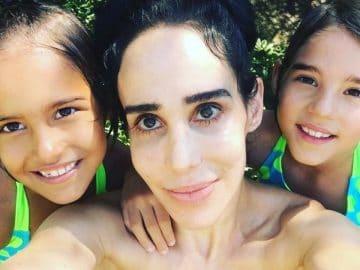 Nadya Natalie Suleman, avec ses enfants