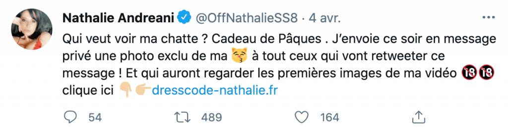 Nathalie Andreani sur Twitter