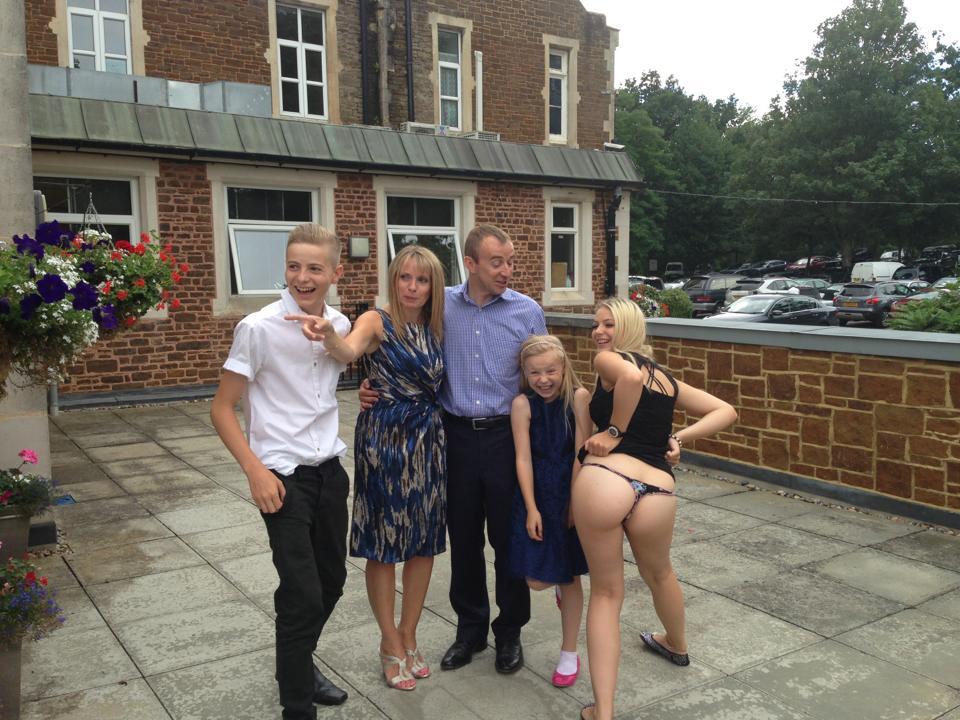 une photo de famille originale