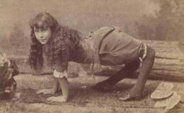 Photo effrayante du passé