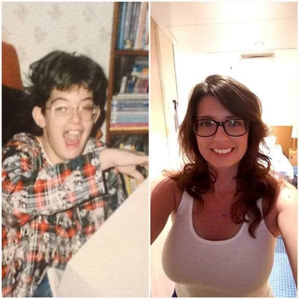 Une personne métamorphosée par la puberté.