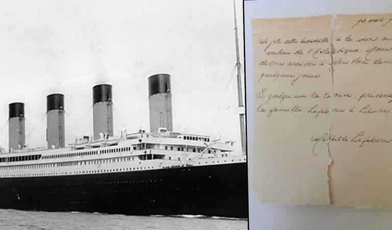 Titanic : une lettre écrite par une passagère la veille du naufrage, retrouvée 109 ans plus tard