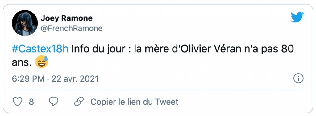 Tweet sur Olivier Véran