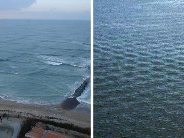 La mer croisée ou vagues carrées
