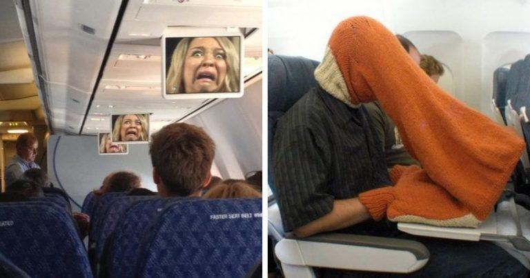 des scènes étranges en avion