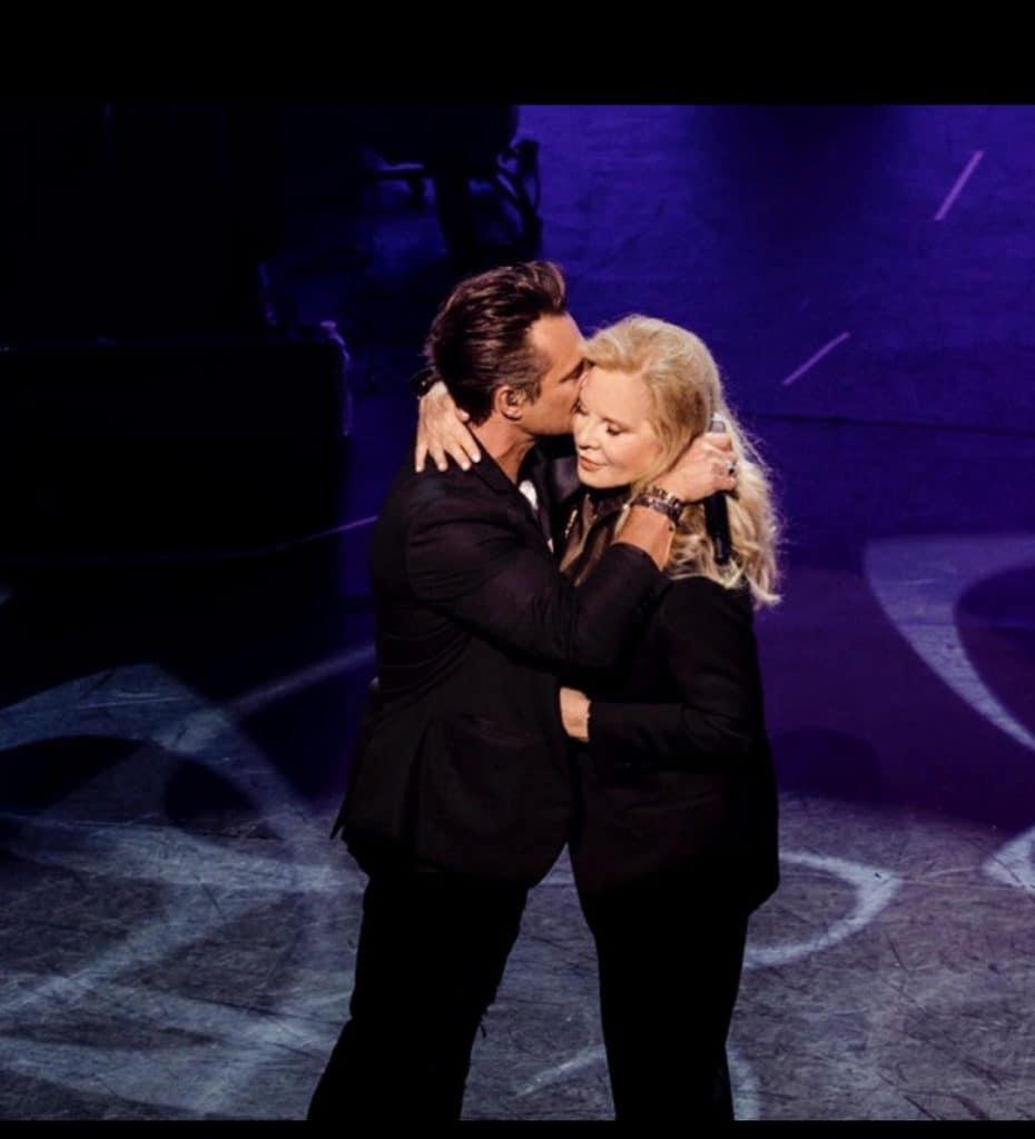 David Hallyday et Sylvie Vartan sur scène