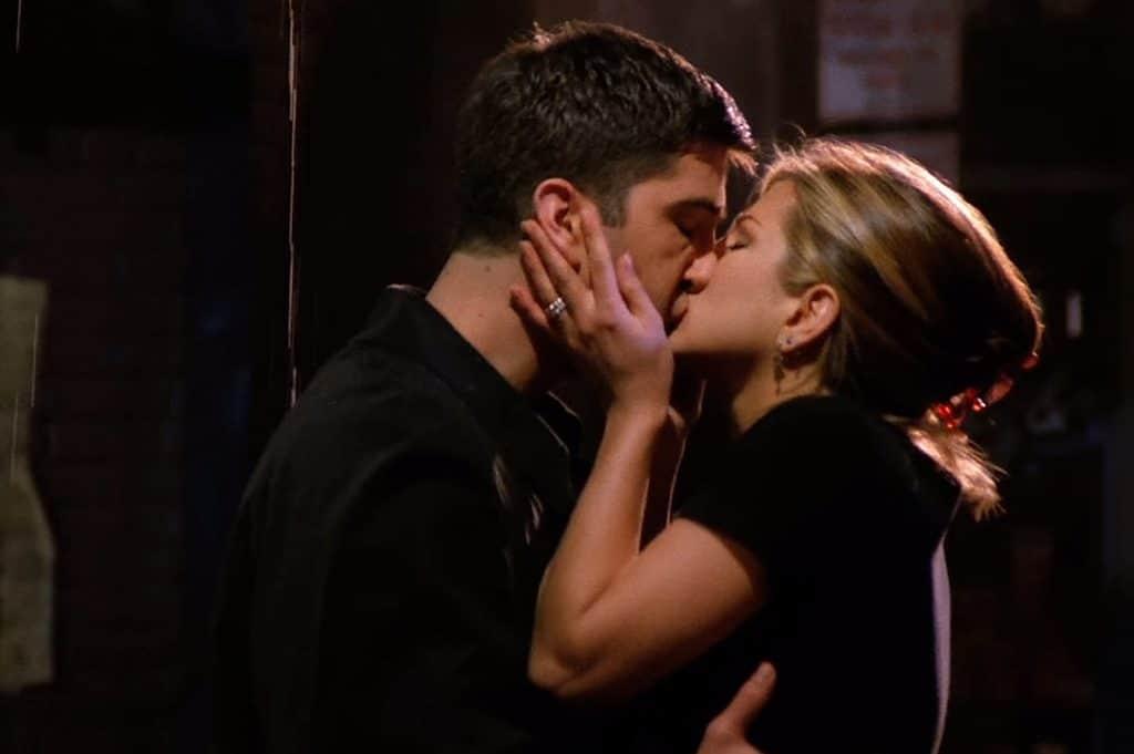 Rachel et Ross, premier baiser friends