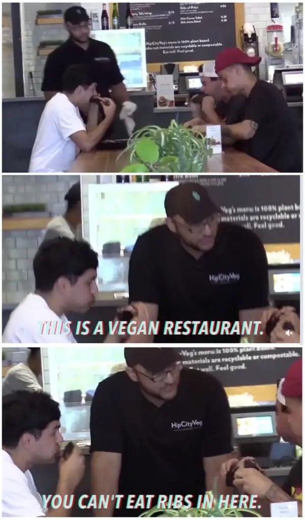 Des clients de restaurant irrespectueux