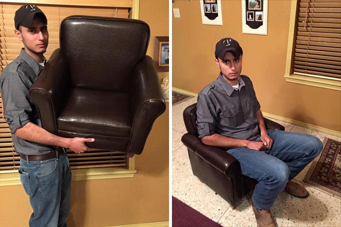 Un achat trompeur sur internet : un fauteuil trop petit