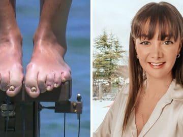 Les pieds d'Alexandra dans Koh Lanta