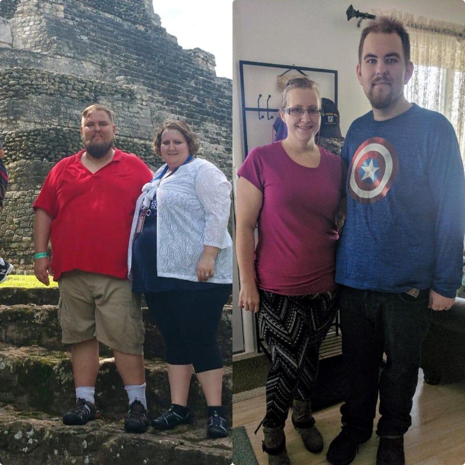 un couple d'anciens obèses qui ont perdu du poids